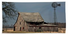 Country Roof Collapse Bath Towel by Kathy M Krause