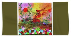 Country Sunrise Hand Towel by Donna Blackhall