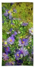 County Wild Flowers Hand Towel by Cedric Hampton