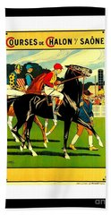 Courses De Chalon French Horse Racing 1911 II Leon Gambey Bath Towel