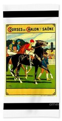 Courses De Chalon French Horse Racing 1911 II Hand Towel