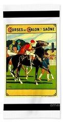 Courses De Chalon French Horse Racing 1911 II Bath Towel