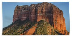 Courthouse Butte At Sunset Hand Towel