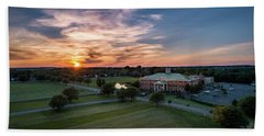 Courthouse Sunset Hand Towel