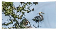 Great Blue Heron Couple Bath Towel