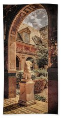 Paris, France - Courtyard East - L'ecole Des Beaux-arts Bath Towel
