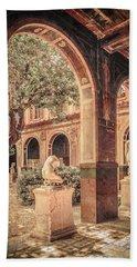 Paris, France - Courtyard West - L'ecole Des Beaux-arts Bath Towel