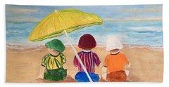 Cousins At The Beach Hand Towel