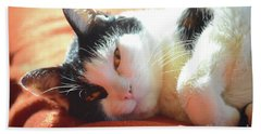 Cover Girl Hand Towel by Jesse Ciazza