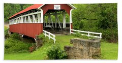 Covered Bridge In Middlecreek Township Hand Towel