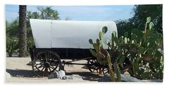 Hand Towel featuring the photograph Covered Wagon by Jay Milo