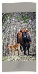 Cow And Calf Bath Towel