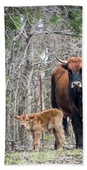 Cow And Calf Hand Towel