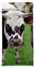 Cow Closeup Bath Towel