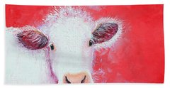 Cow Painting - Charolais Hand Towel