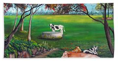 Cow Tales Bath Towel