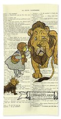 Cowardly Lion, The Wizard Of Oz Scene Hand Towel