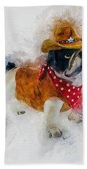 Cowboy Bulldog Bath Towel