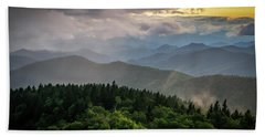Cowee Mountain Sunset Hand Towel by Serge Skiba