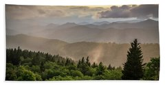 Cowee Mountains Sunset 2 Hand Towel by Serge Skiba