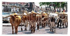 Cowtown Stockyards Bath Towel