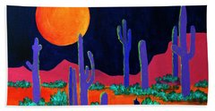 Coyote Moon Hand Towel by Jeanette French