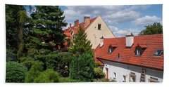 Hand Towel featuring the photograph Cozy Prague by Jenny Rainbow