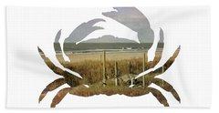 Crab Beach Hand Towel