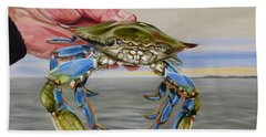 Hand Towel featuring the painting Crab Fingers by Phyllis Beiser
