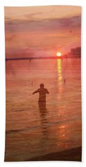 Crabbing At Chicks Beach Chesapeake Bay Va Beach Bath Towel by Suzanne Powers