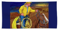 Cracker Cowboy Sunrise Hand Towel