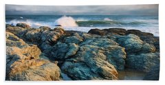 Hand Towel featuring the photograph Craggy Coast by Robin-Lee Vieira