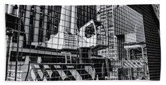 Crane In Manhattan Hand Towel