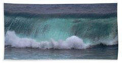 Crashing Wave Bath Towel by Pamela Walton
