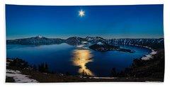 Crater Lake Moonlight Hand Towel