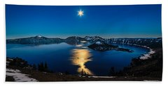 Crater Lake Moonlight Bath Towel