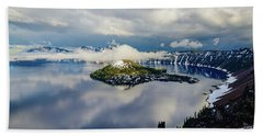 Crater Lake Storm Hand Towel