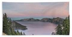 Crater Lake Sunset Hand Towel