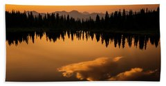 Crater Lake Sunset Bath Towel