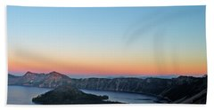 Crater Lake Twilight Bath Towel