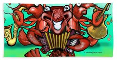 Crawfish Band Hand Towel