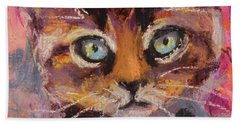 Crazy Cat Tabby  Hand Towel