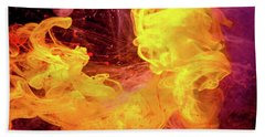 Crazy Chase - Purple And Yellow Abstract Photography Bath Towel