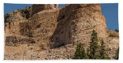 Bath Towel featuring the photograph Crazy Horse Memorial by Brenda Jacobs