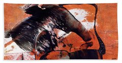 Crazy Mouse - Modern Abstract Art Painting Bath Towel