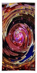 Hand Towel featuring the photograph Crazy Swirl Art by Sue Melvin