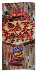 Bath Towel featuring the photograph Crazy Town by Stephen Stookey