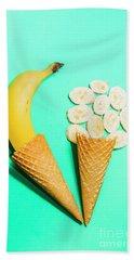 Creative Banana Ice-cream Still Life Art Bath Towel