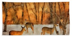 Creatures Of A Winter Sunset Hand Towel