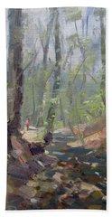 Creek At Lockport Natural Trail Bath Towel